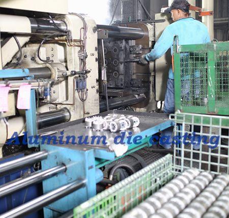 We provide pure aluminum and aluminum alloy die-casting.