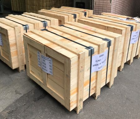 CFS/LCL is shipped via wooden cases.