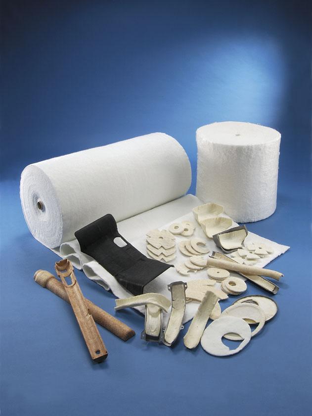玻璃纖維軋針棉及其製品 石化、發電廠之管路、渦輪設備保溫 - 形狀客製化