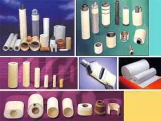 ガラス繊維巻き綿とその製品