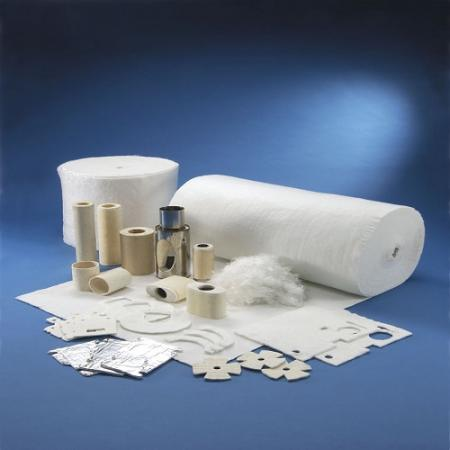 High Temp Fiberglass Needled Mat / Felt - High Temp Fiberglass Needled Mat Pipe Insulation