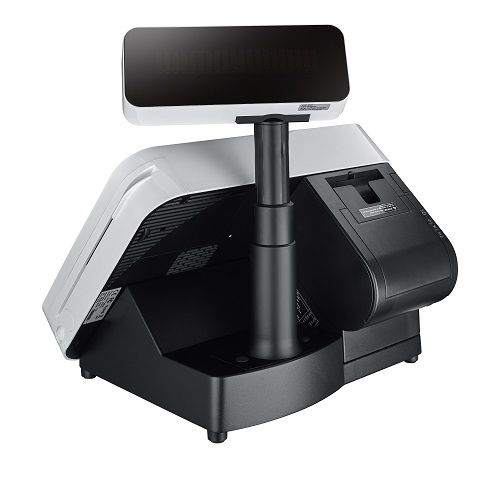 POS Terminal Integrated with Thermal Printer and Customer Display
