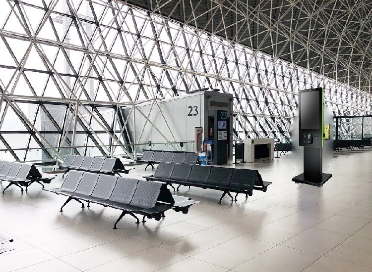Kiosk serves as the multi-functional information station in the airport.