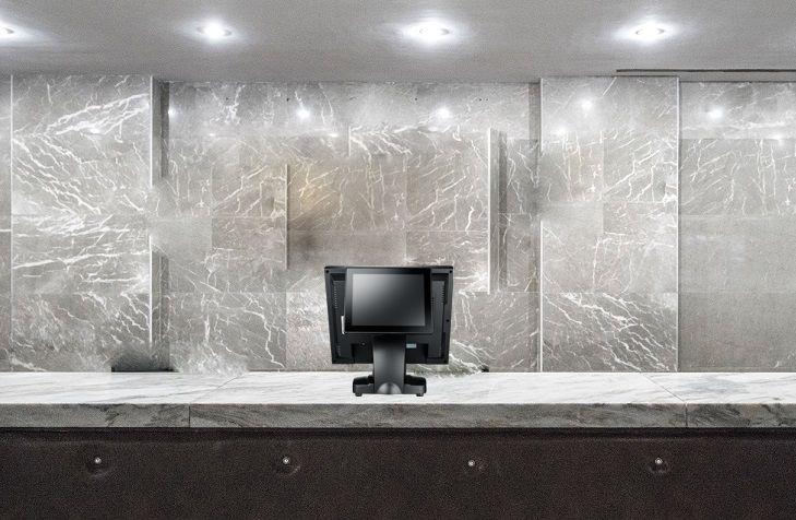A TYSSO oferece um sistema POS de tela plana de toque de 17 polegadas para serviços de hospitalidade.