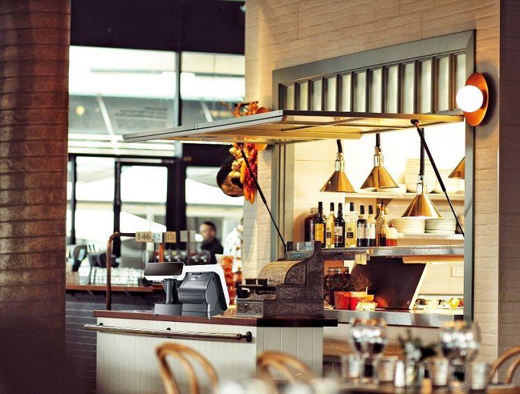 TYSSO Σύστημα POS All-in-One 15 ιντσών χωρίς ανεμιστήρα στην καφετέρια.