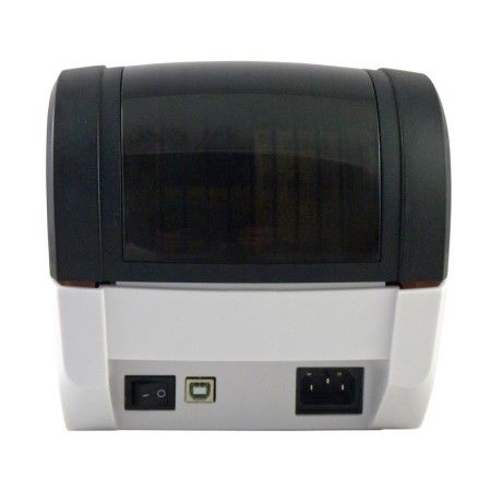 Rear View of Label Printer BLP-300 with USB, Power Input, and Power Switch