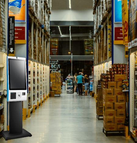 27-inch Self-Service Kiosk as an optimal solution for  warehouse logistics.
