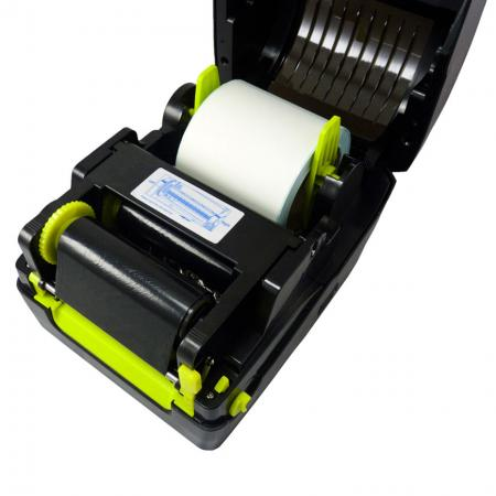 Front cover opened of Label Printer BLP-410
