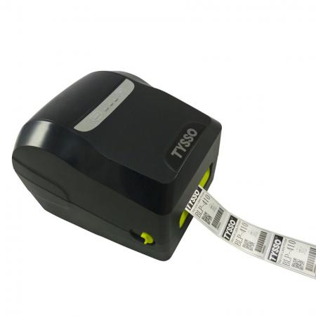 Bevel of Label Printer BLP-410 with label