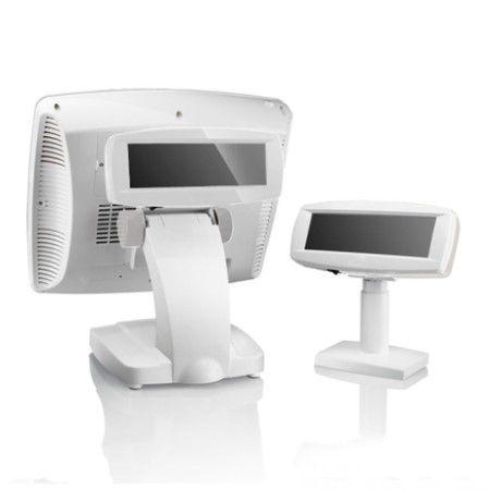 Kassensystem mit glänzendem Kundendisplay in Weiß
