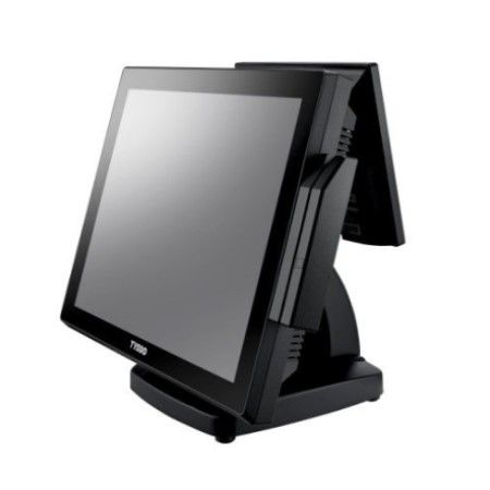 Side of POS System POS-8017F with 2nd LCD Display