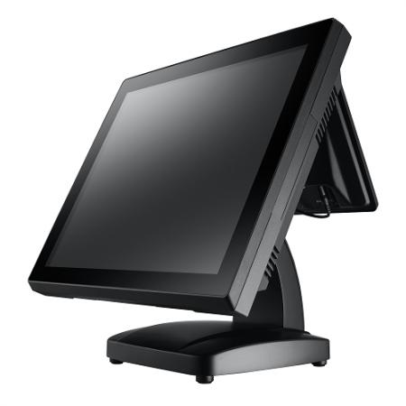 Terminal POS com tela de toque totalmente plana de 17 polegadas - Sistema POS de tela plana de toque de 17 polegadas