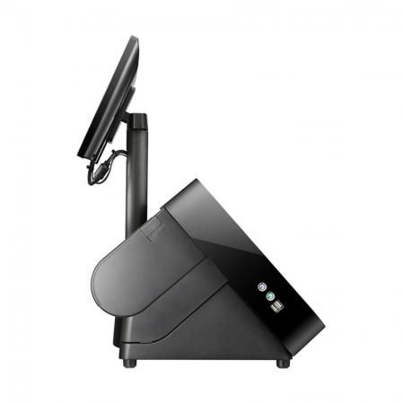 Side of black color of POS System POP-950