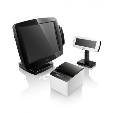 POS System POS-3000 with Receipt Printer PRP-250 and Customer Display VFD-890