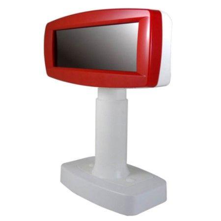 Afficheur client VFD-890A en rouge et blanc