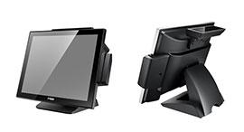 POS-1000-B محطة نقاط البيع ذات شاشة لمس مسطحة كاملة بدون مروحة