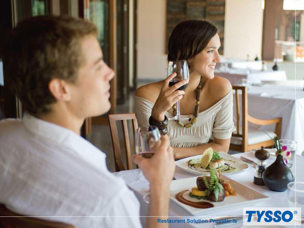 TYSSO zapewnia satysfakcjonujące rozwiązanie sprzętowe POS dla restauracji.