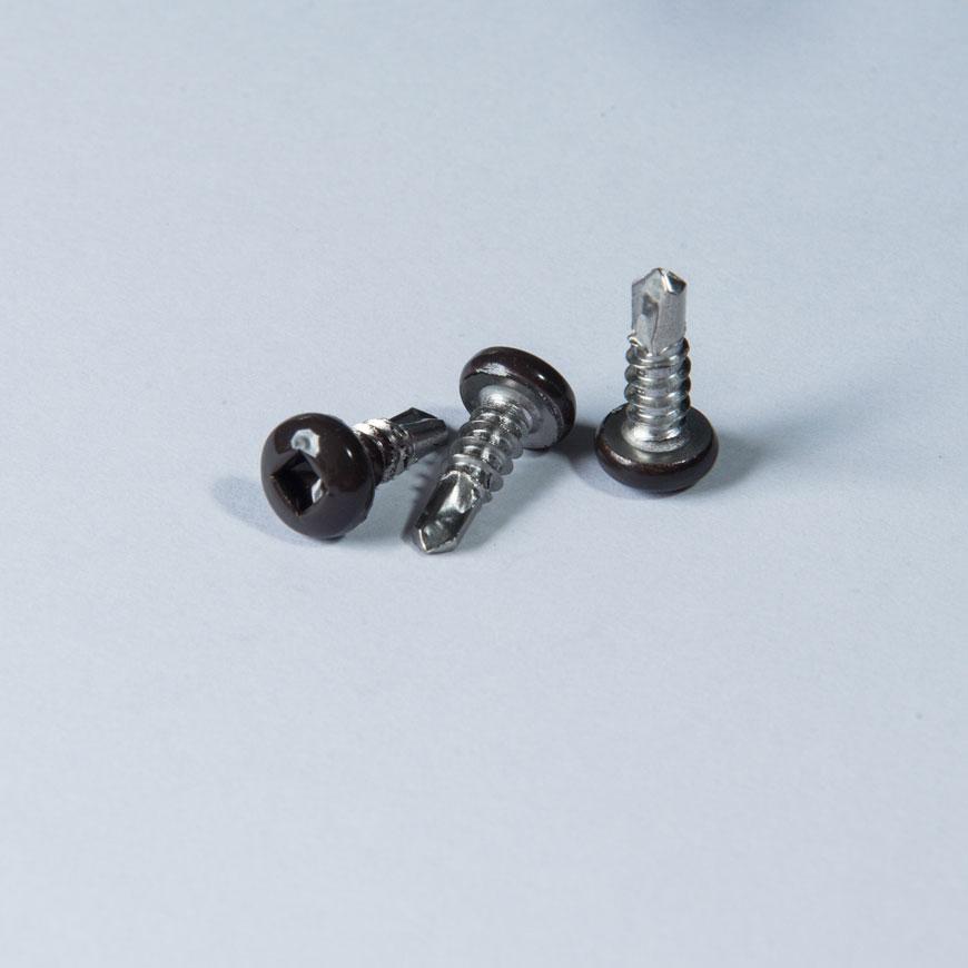 Flat Machine Thread Drilling Screw - Flat Machine Thread Square Rec Drilling Screw