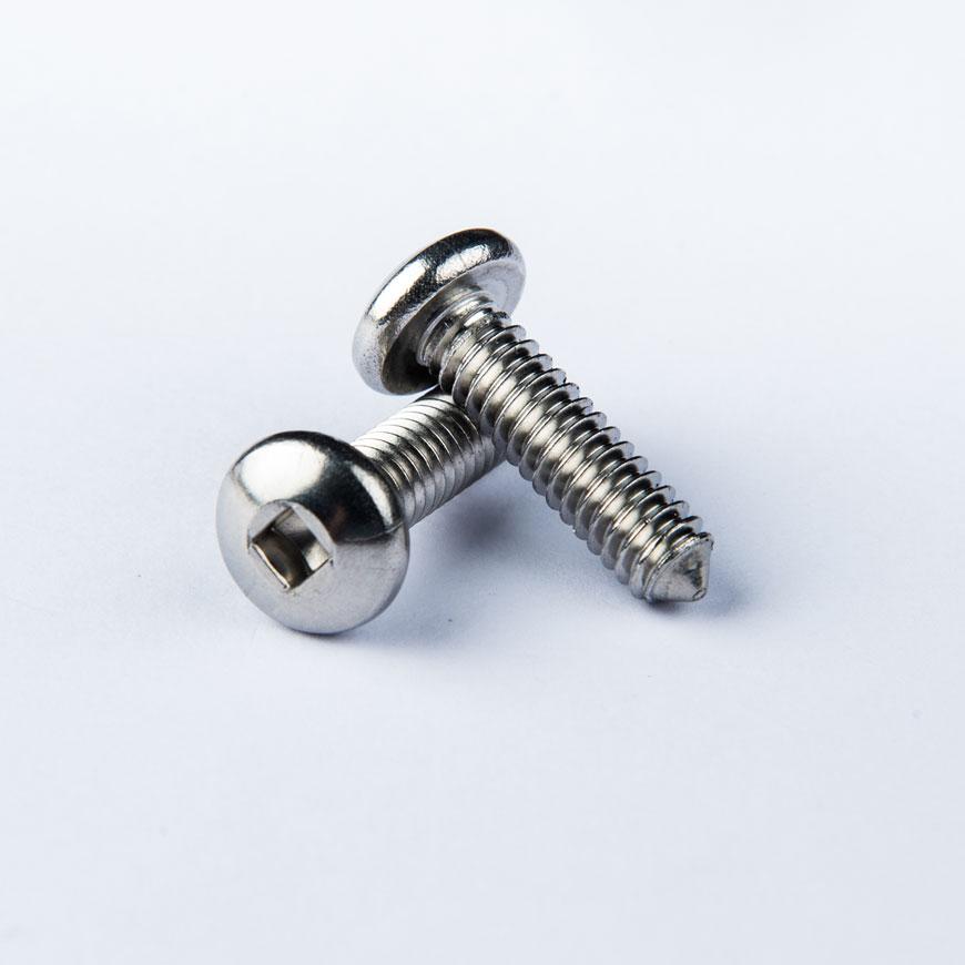 Penhoved maskinskrue m / skarp spids - Penhoved Firkantet fordybningsmaskine Skrue m / skarp spids