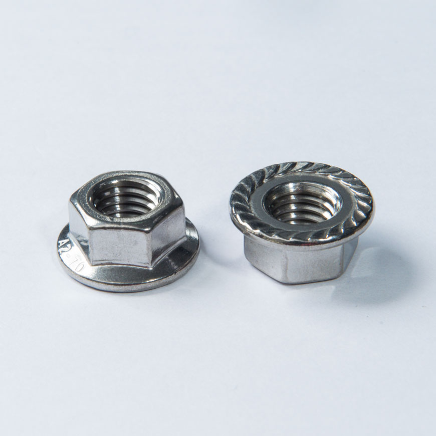Nut - Indented Hex Round Washer Head Nut