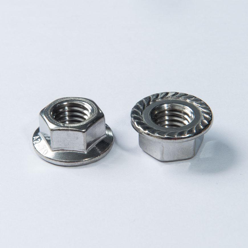 Nut - Indented Hex Round Washer Head Nut