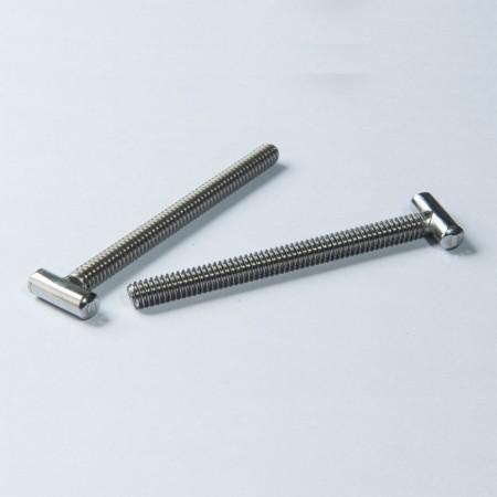 Rustfrit stål T-hovedbolt - Rustfrit stål T-hovedbolt m / fuldt gevind grov maskintråd