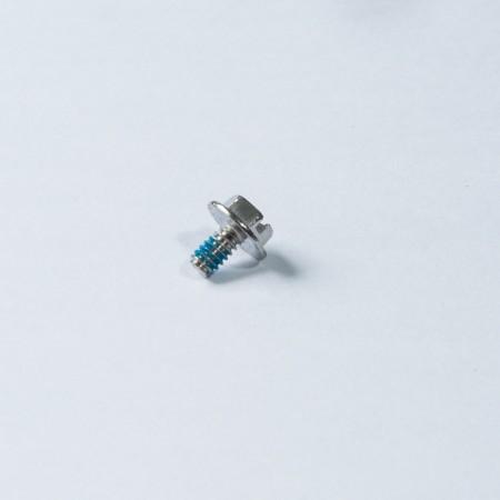 Abgeschrägtes Sechskant-Unterlegscheiben-Maschinengewinde - Abgeschrägter Sechskant-Unterlegscheibenkopf, Maschinenschlitz am Kopf mit Maschinengewinde und blauem Nylok am Gewindeende