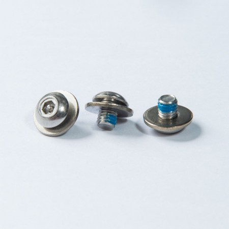 Bottone Testa Interna Esagonale Rec - Riconoscimento perno esagonale interno con testa a bottone con rondella più filettatura macchina, Nylok blu sul filo