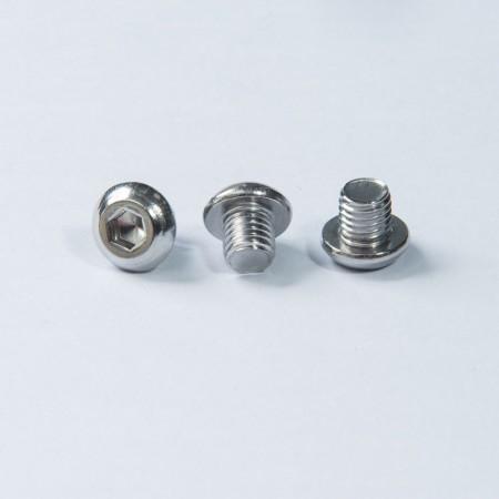 Edelstahl-Kopfschraube - Knopfkopf Sechskantschraube mit Maschinengewinde, Passivierung auf der Oberfläche der Schraube