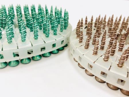 耐酸性環境的塗裝螺絲 - 符合歐盟的兩個環保法規(WEEE)及(ROHS)的環保電鍍,符合正常環保法規塗耐落、染黑無油、五彩鋅、鈍化 、 三價鉻鋅等之螺絲產品皆可加工