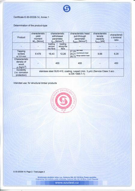 鐵板牙3.9mm CE認證