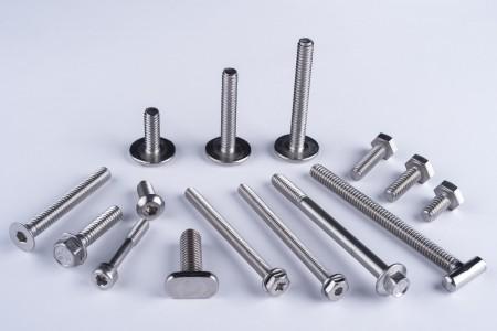 Tornillos de máquina - Tornillos de cabeza hexagonal, cabeza hexagonal con arandela, avellanado, cabeza redonda, tornillos para metales de cabeza plana.
