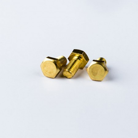 Messing sekskantet hovedskrue - Messing sekskantet hovedskrue i henhold til DIN931 Standard m/ maskintråd