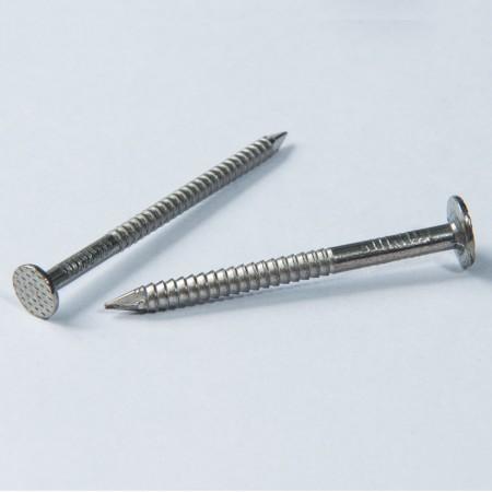 Flachkopf-Nagelschraube - Flacher Kopf spitzer Nagel