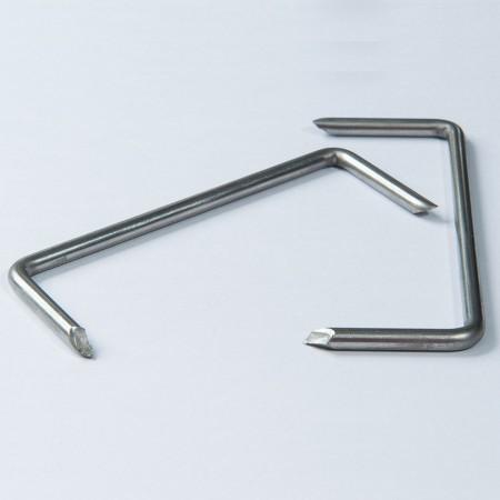 Graffetta in acciaio inossidabile - Punti metallici in acciaio inossidabile, forma M.