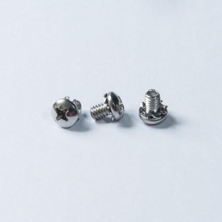 Vis à tête cylindrique - Rondelle dentelée à tête cylindrique et roulante