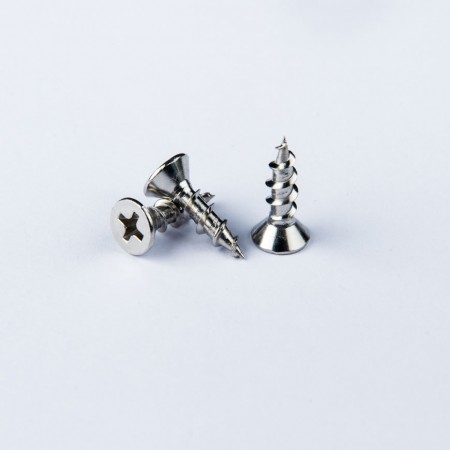 Flat Phillips Tapping - Flat Head Phillips Rec Screw w/ Pointed Tail Broad Thread Tapping Screw