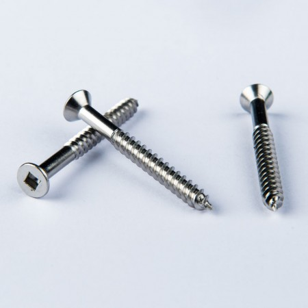 Flat Head Phillips Tapping - Flat Head #1 Square Rec Screw w/ Tapping