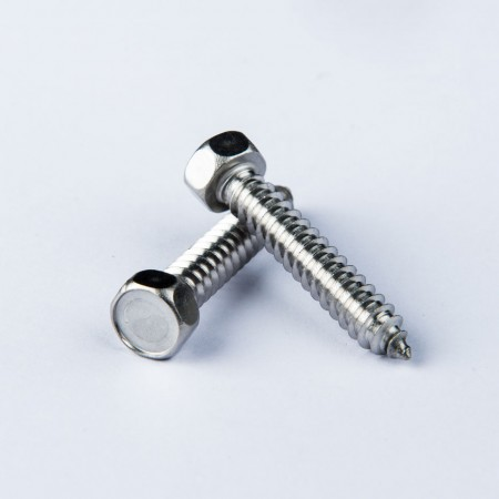 Chamfered Hex Washer Head w/ Tapping Type AB - Chamfered Hex Washer Head w/ Tapping Type AB, Fully Threaded Drilling Screw