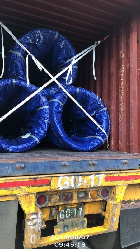 高品質的原料-日本進口盤元 貨櫃開櫃實況