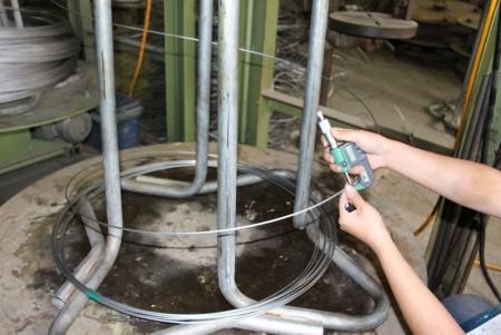 Produktionsinspektion - Durchmesser bestätigen