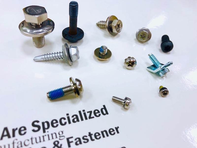 Hex head SEMS screws, Pan Head SEMS screws, Binding head SEMS screws.