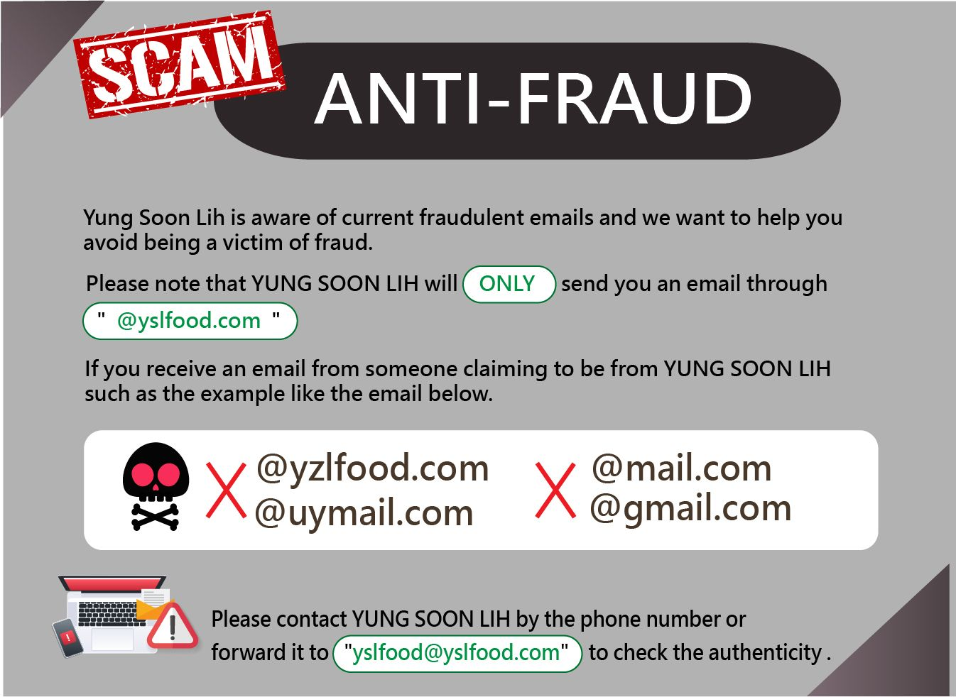 Announcement about Fraudulent Emails !