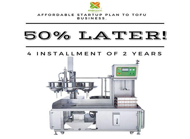 Plan de inicio asequible para Tofu Business.