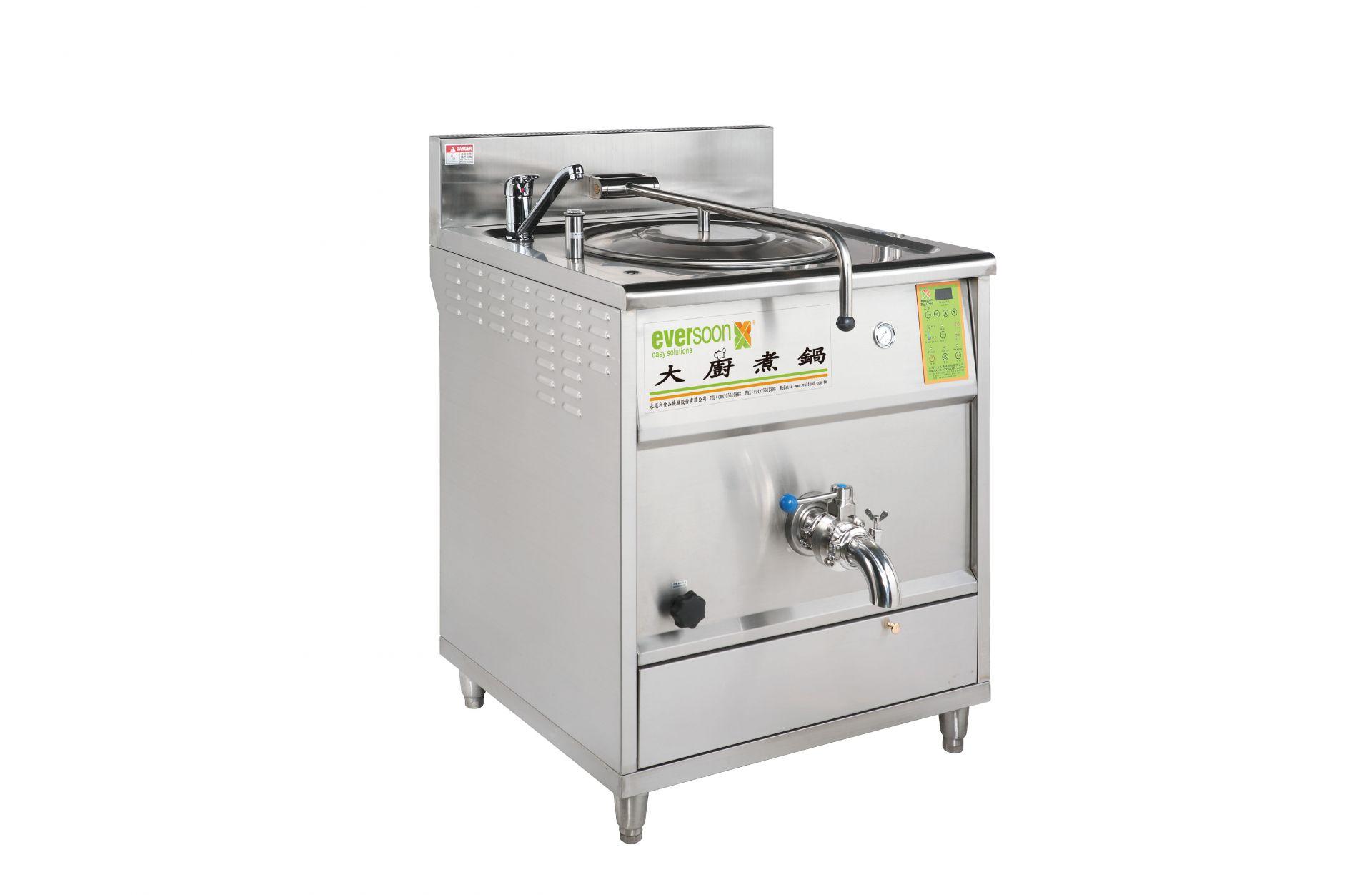 Máquina de sartén de leche de soja - Boliing Pan Machine se puede utilizar para cocinar no solo leche de soja sino también leche de arroz, sopa y salsa concentrada como salsa para espaguetis.