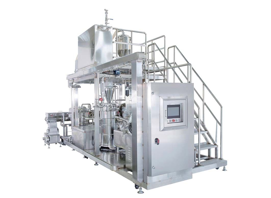 F1404-gringing & separating machine which design with four grinding and separating can increase the extraction rate of soybean protein about 5%.