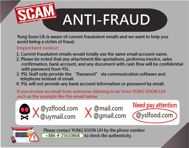Announcement about Fraudulent Emails - Notices! We want to help you avoid being a victim of fraud.