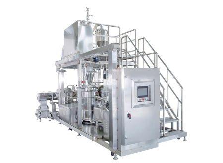 Máquina de lijado y separación F1404 - La máquina automática de molienda y separación de soja está diseñada con una máquina de molienda y separación de cuatro.