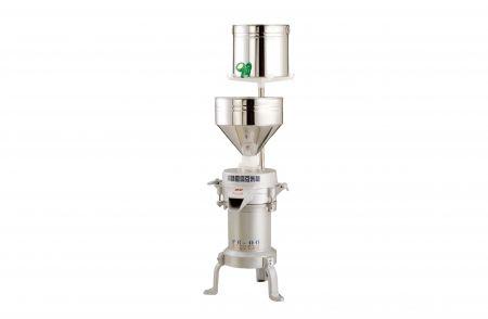 磨豆米機 - 多功能高速磨豆米機FE-06,此款機械產能偏小,每小時約可研磨30~70公斤的黃豆,適合一般家庭節慶製作糕點、小型攤販 (菜市場、華人早市)、餐廳使用。