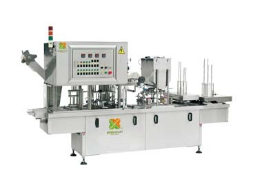 Boxed Japanese Tofu Filling & Sealing Machine - Automatic Boxed Silken Tofu Filling & Sealing Machine
